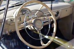 Auto toont retro van Dniepr Royalty-vrije Stock Afbeeldingen