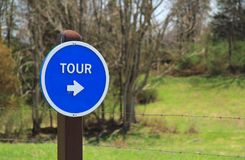 Auto Tour Sign at Antietam National Battlefield stock photo