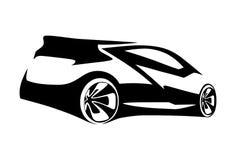 Auto trägt Schattenbild zur Schau lizenzfreie abbildung