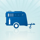 Auto trailer with compressor Stock Photo