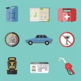 Auto transport motorist icon symbol vehicle equipment service car driver tools vector illustration. Royalty Free Stock Image