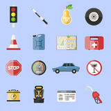 Auto transport motorist icons symbol vehicle equipment service car vector illustration. Royalty Free Stock Photo