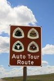 auto trasy znaka wycieczka turysyczna Zdjęcie Royalty Free