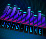 Auto-tune concept. Illustration depicting graphic equalizer level bars with an Auto-tune concept Royalty Free Stock Images