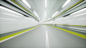 Auto tunnel, fast driving. 3d animation. Auto tunnel, fast driving 3d animation stock footage