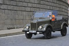 Auto UAZ-69A Stockfotos
