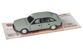 Auto und 500 Rubel Stockbild