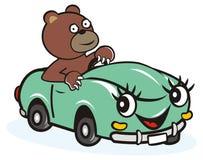 Auto und Bär Stockbild