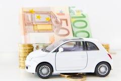 Auto und Euros Stockfoto
