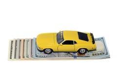 Auto und Geld Lizenzfreies Stockbild