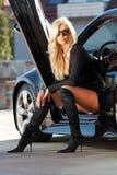 Auto und Schätzchen Lizenzfreie Stockfotos