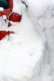Auto und Schnee Stockfotos