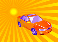 Auto und Sonne lizenzfreie abbildung