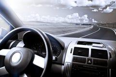 Auto und Wiese Lizenzfreie Stockfotos