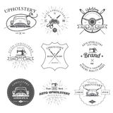 Auto Upholstery Vintage Badges and Labels Vector Stock Images