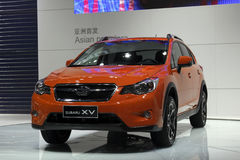 auto värld xv för subaru för show för debutguangzhou sedan arkivbild