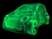 Auto van de de illustratie sub-overeenkomst van Wireframe x-ray Stock Fotografie