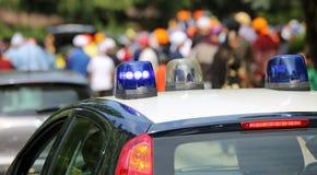 Auto van de Italiaanse Carabinieri-politie in de afdeling Stock Afbeeldingen