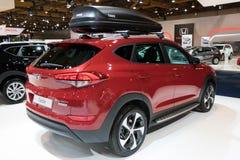 Auto van de oversteekplaatssuv van Hyundai Tucson de compacte stock afbeelding