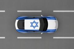 Auto van de vlag die van het land van Israël wordt geschilderd Royalty-vrije Stock Afbeeldingen