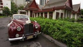 Auto van het Rollsâ€` Royce de luxueuze huwelijk Stock Afbeelding