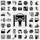 Auto vector icons set on gray Stock Photography