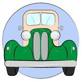 Auto vector. Old retro car vintage drawing style. Vector car front view. Vector illustration Stock Image