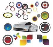 Auto - vectorelementen Stock Afbeeldingen
