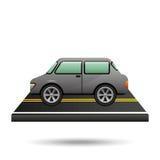 Auto vehicule grijs op weg Stock Fotografie