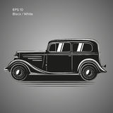 AUTO-Vektorillustration der alten Weinlese Retro- Vorkriegs Exklusives Auto Stockbild