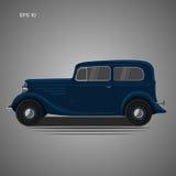 AUTO-Vektorillustration der alten Weinlese Retro- Vorkriegs Exklusives Auto Stockfoto