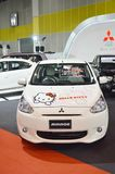 Auto veloce Show2014 miraggio su Kitty, convenzione Hall Bangna di BANGKOK, TAILANDIA luglio 4,2014 Mitsubishi di Bitec Fotografie Stock Libere da Diritti