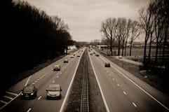 Auto-Verkehr Stockfoto