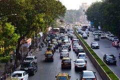 Auto-Verkehr an Cst Mumbai Lizenzfreie Stockbilder