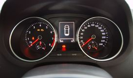 Auto verlicht dashboard Royalty-vrije Stock Afbeelding
