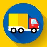 Auto Verschepend pictogram Snel en vrij leveringsconcept Stock Foto's