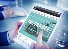 Auto-Versicherungs-Unfall-Anspruchs-Risiko-Verteidigungs-Antriebskonzept Lizenzfreies Stockbild