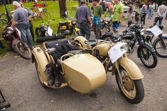 Auto veteran. Exhibition veteran cars and motorcycles Royalty Free Stock Photo