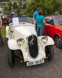 Auto veteran. Exhibition veteran cars and motorcycles Royalty Free Stock Photography