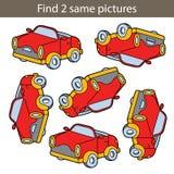 Auto vind zelfde 2 stock illustratie