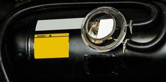 Auto vloeibaar petroleumgas, LPG-tank Stock Foto's
