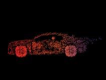 Auto von den Musikanmerkungen über ein Schwarzes Lizenzfreie Stockbilder
