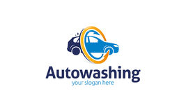 Auto Wash Logo. Minimalist and modern auto logo template. Simple work and adjusted to suit your needs Royalty Free Stock Image