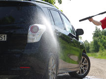 Auto washing Lizenzfreies Stockbild