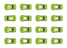 Auto web icons 2. Set 2 of auto web icons. Vector illustration. Other sets of the same style icons look in my gallery Royalty Free Stock Photos