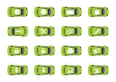 Auto web icons 3. Set 3 of auto web icons. Vector illustration. Other sets of the same style icons look in my gallery Stock Photos