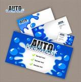 Auto wellness med vattenfärgstänk Royaltyfria Bilder