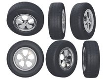 Auto wheels Stock Images