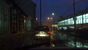 Auto-Wischer nachts stock footage