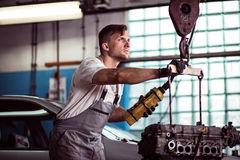 Auto workshop worker Royalty Free Stock Image